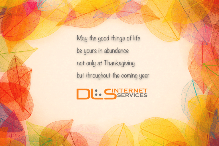 DLS Thanksgiving message
