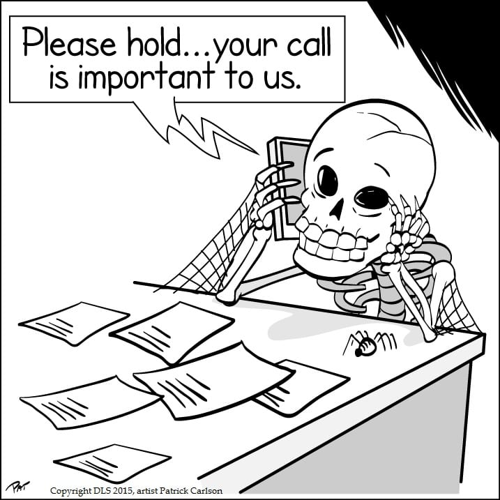 Hold Message Hell cartoon