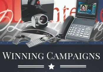 Political campaign pitucre with DLS phones