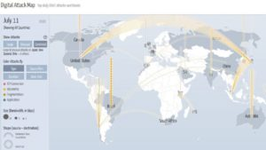 DDOS attack map July 11 data